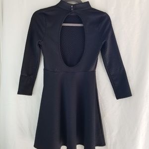 Free People Little Black Dress Open Back Quilted